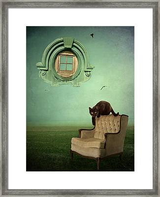 Window To Nowhere Framed Print by Patricia Ridlon