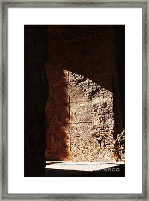 Window To The Shadows Framed Print