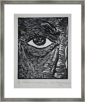 Window To The Soul Framed Print
