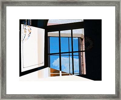 Window Treatment Framed Print by Lenore Senior