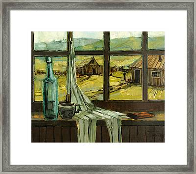 Framed Print featuring the painting Window Upon The Past by Steve Spencer