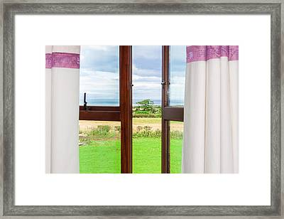 Window View Framed Print by Semmick Photo