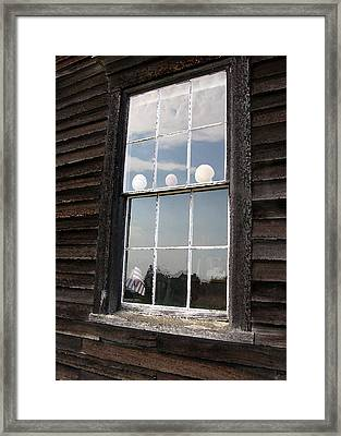 Window With Seashells Framed Print by J R Baldini M Photog Cr