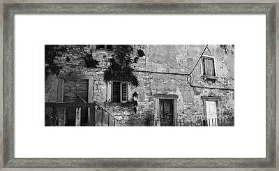 Framed Print featuring the photograph Crumbling In Croatia by Andy Prendy