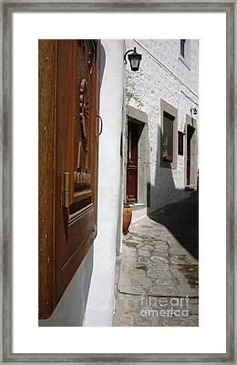 Windows And Doors Of Greece Framed Print