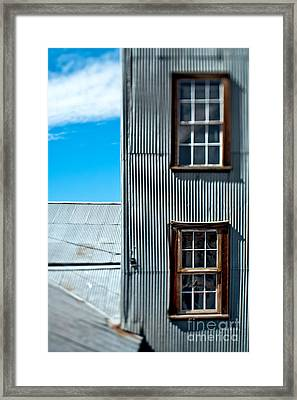 Windows In A Wall With Metal Siding Framed Print