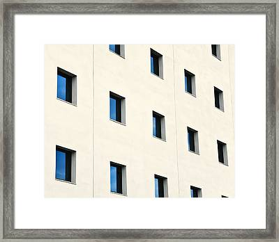 Windows In An Office Building Framed Print by Design Pics / Ken Welsh