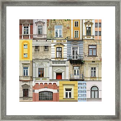Windows Framed Print by Jaroslaw Grudzinski