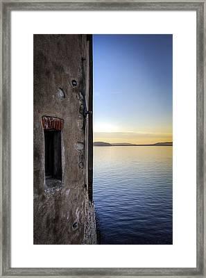 Windows Of A Monastery Framed Print