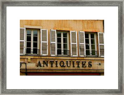 Framed Print featuring the photograph Windows Of Antiquites by Laurel Talabere