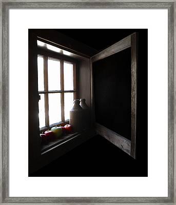 Framed Print featuring the photograph Windowsill by Raymond Earley