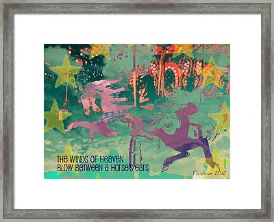 Winds Of Heaven Framed Print by Poni Trax