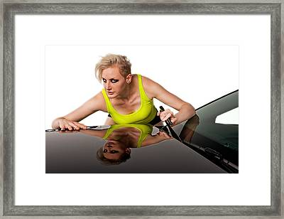 Framed Print featuring the photograph Windshield Wiper by Jim Boardman