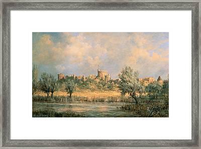Windsor Castle - From The River Thames Framed Print