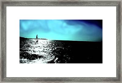 Windsurfing Greece Framed Print