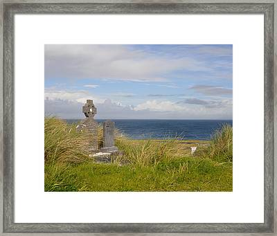 Framed Print featuring the photograph Windswept Grave by Cheri Randolph