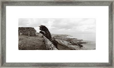 Windswept Machrihanish Framed Print by Jan W Faul