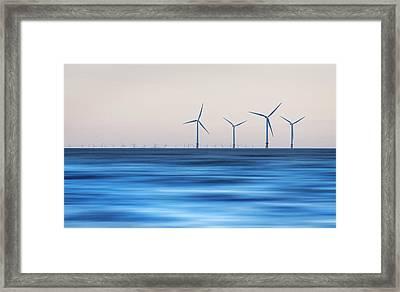 Windturbines, Burbo Bank, Crosby Framed Print by Ian Moran