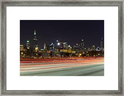 Windy City Fast Lane Framed Print