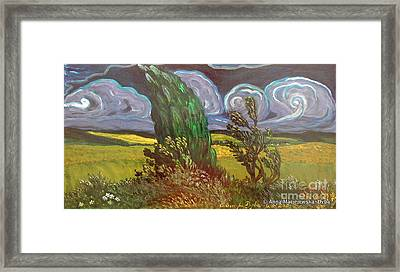 Windy Day Framed Print by Anna Folkartanna Maciejewska-Dyba