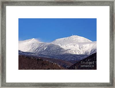 Windy Day At Mt Washington Framed Print