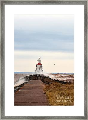 Windy Point Framed Print by Whispering Feather Gallery