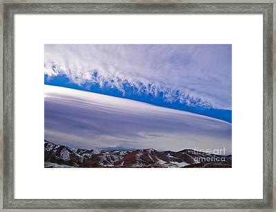 Windy Sky Framed Print