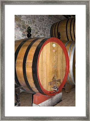 Wine Aging Framed Print by Sally Weigand