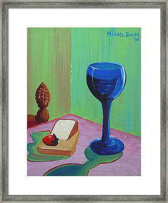Wine And Cheese Framed Print by Michael Baum