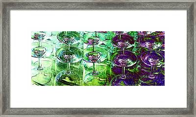 Wine And Dine Framed Print by Will Borden