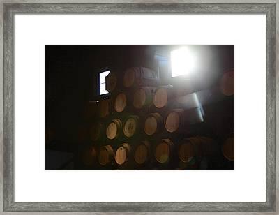 Wine Barrels Framed Print by Viktor Savchenko