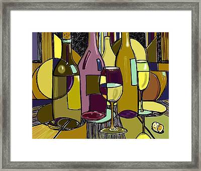 Wine Bottle Deco Framed Print