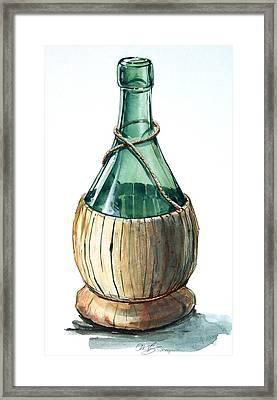 Wine Bottle Framed Print by Olin  McKay