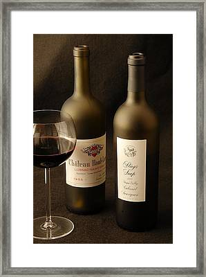 Wine Bottles Framed Print by David Campione