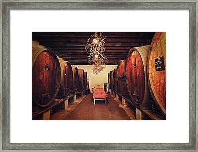 Wine Cellar Framed Print by Benjamin Matthijs