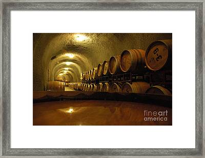 Wine Cellar Framed Print by Micah May