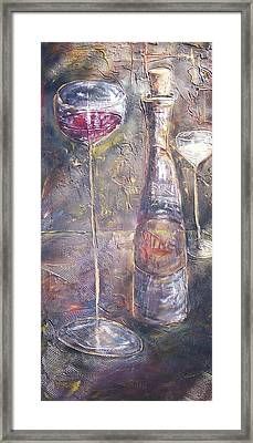 Wine Characters Framed Print