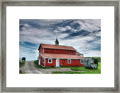 Wine Country Barn II Framed Print by Steven Ainsworth