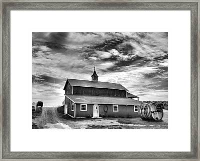 Wine Country Barn Framed Print by Steven Ainsworth