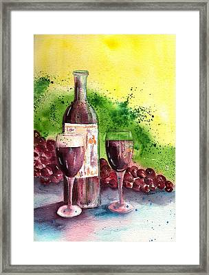 Wine For Two - 2 Framed Print by Sharon Mick