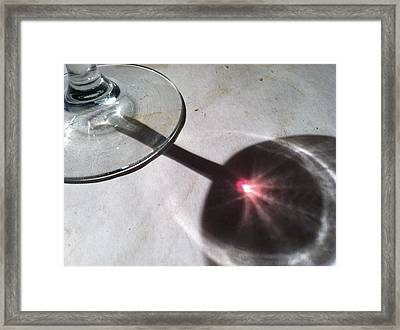 Wine Glass Reflection Framed Print by Anna Villarreal Garbis