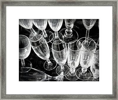 Wine Glasses Framed Print by Lainie Wrightson