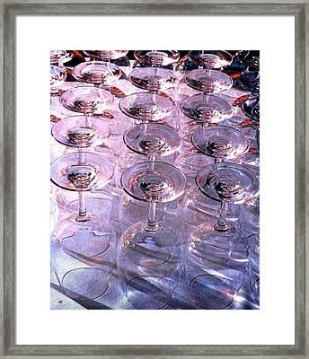Wine Goblets 2 Framed Print by Will Borden