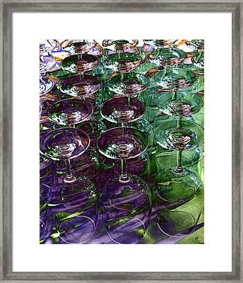 Wine Goblets Framed Print by Will Borden