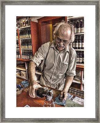 Wine I Know Was Made To Drink Framed Print by William Fields