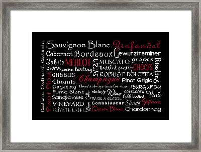 Wine Lovers Framed Print by Jaime Friedman