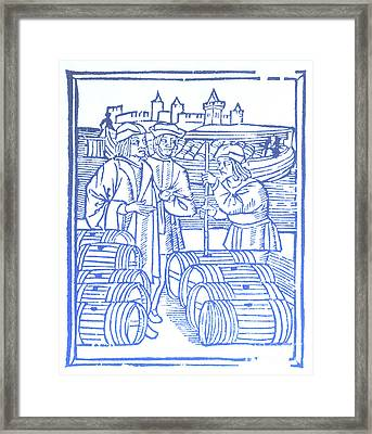 Wine Merchant, Medieval Tradesmen Framed Print