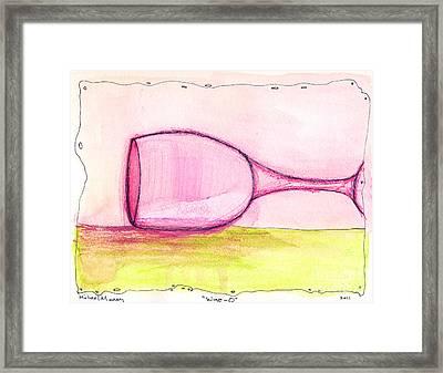 Wine-o Framed Print by Michael Mooney