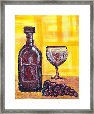 Wine Still Life 2 Framed Print by Janice Gelona