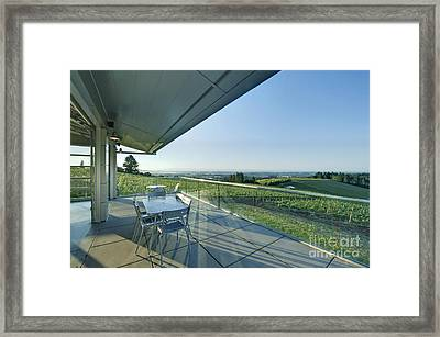 Wine Tasting Balcony Framed Print by Rob Tilley